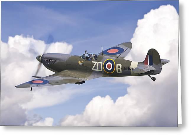 Spitfire Pass Greeting Card