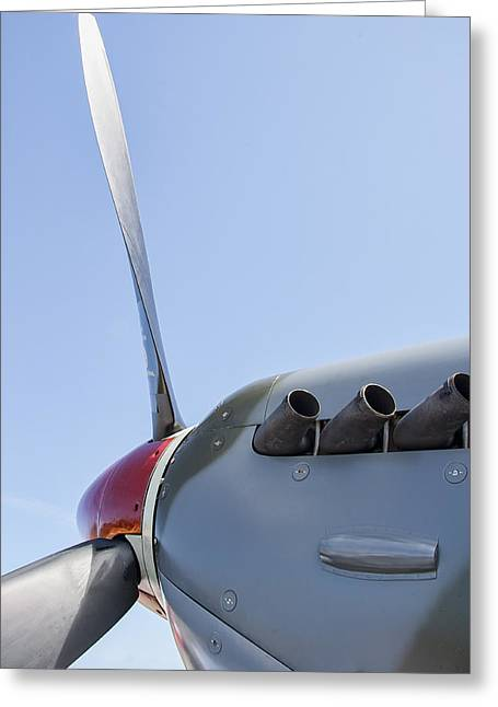 Spitfire Propeller And Exhaust Greeting Card