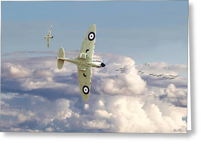Spitfire - '....to So Few' Greeting Card by Pat Speirs