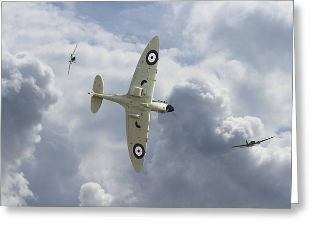 Spitfire - 'you Can Run..........' Greeting Card