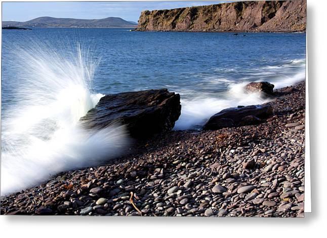 Splash Greeting Card by Aidan Moran