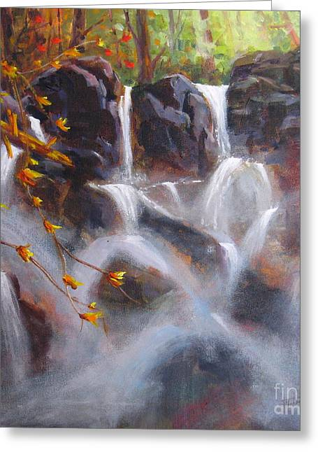 Splash And Trickle Greeting Card by Mohamed Hirji