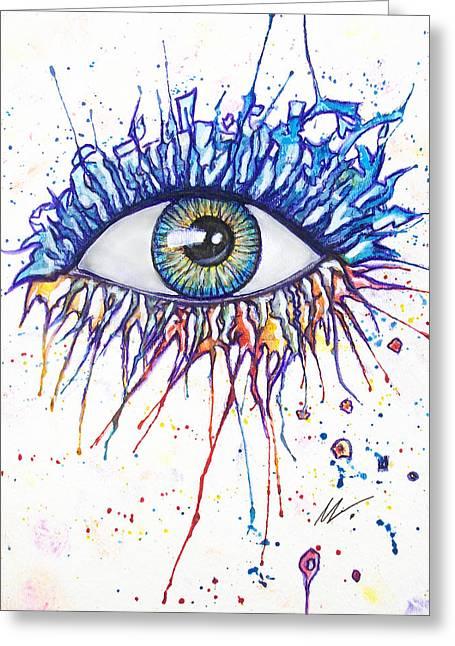 Splash Eye 1 Greeting Card