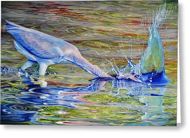 Splash Fishing Greeting Card