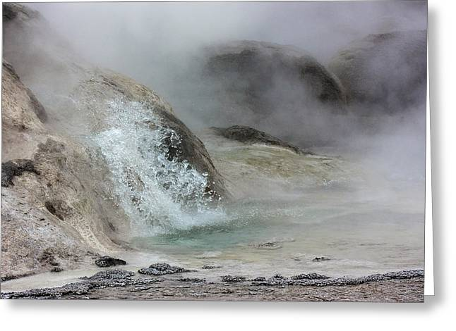 Splash From Grotto Geyser Greeting Card