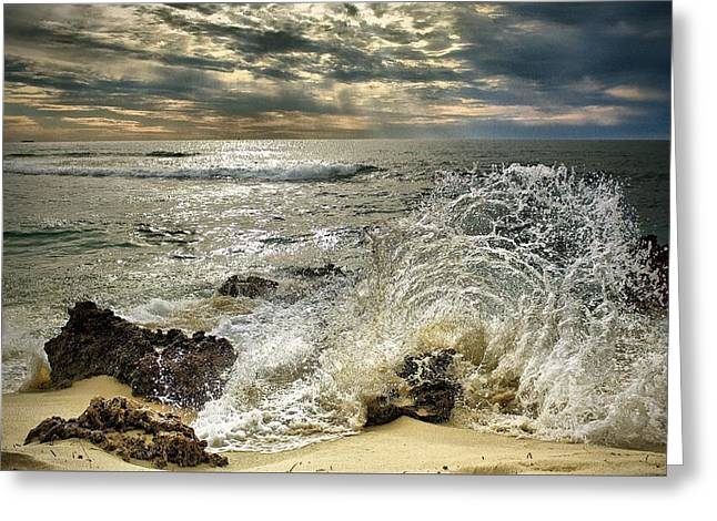 Splash N Sunrays Greeting Card by Kym Clarke