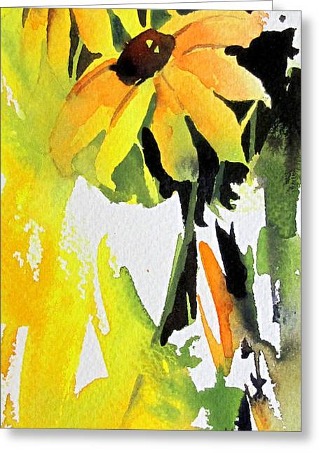 Greeting Card featuring the painting Splash Of Yellow by Rae Andrews