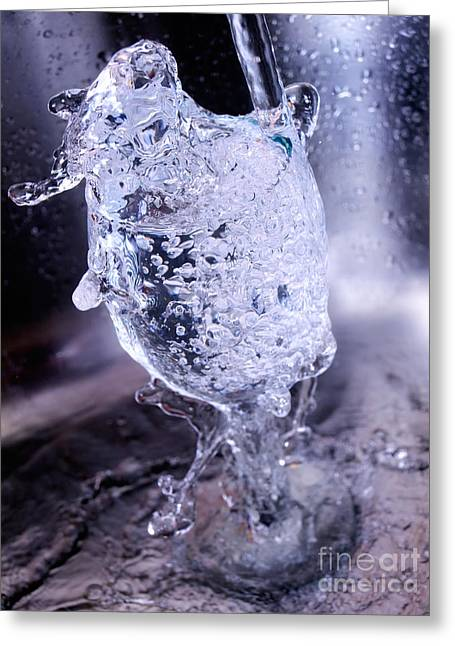 Splash Greeting Card by Sinisa Botas