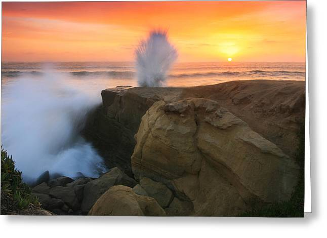Splash Sunset  Greeting Card