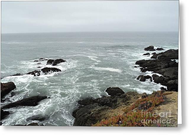 Splashing Ocean Waves Greeting Card by Carla Carson