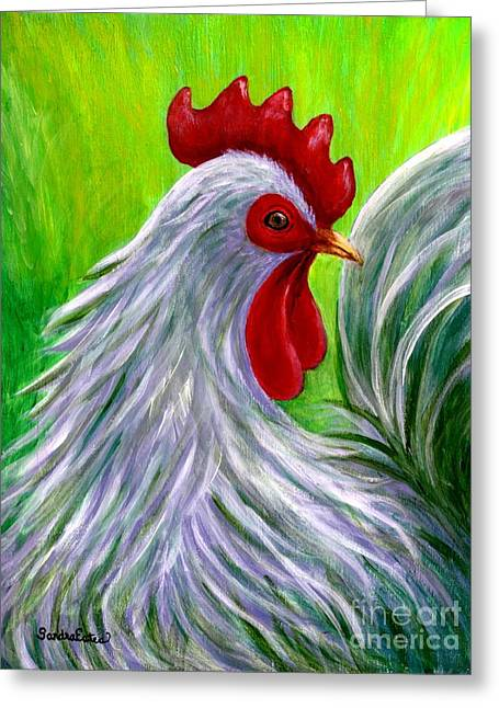 Splashy Rooster Greeting Card