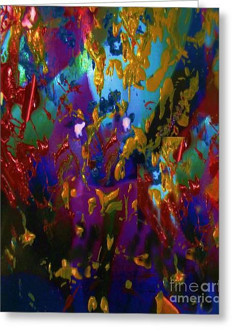 Splatter Greeting Card by Doris Wood