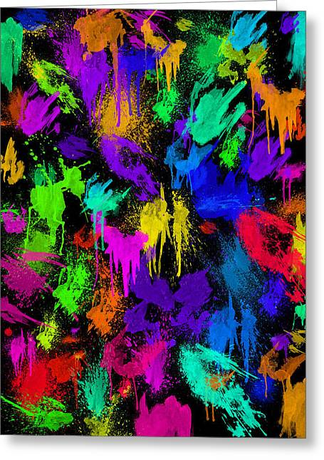 Splattered One Greeting Card