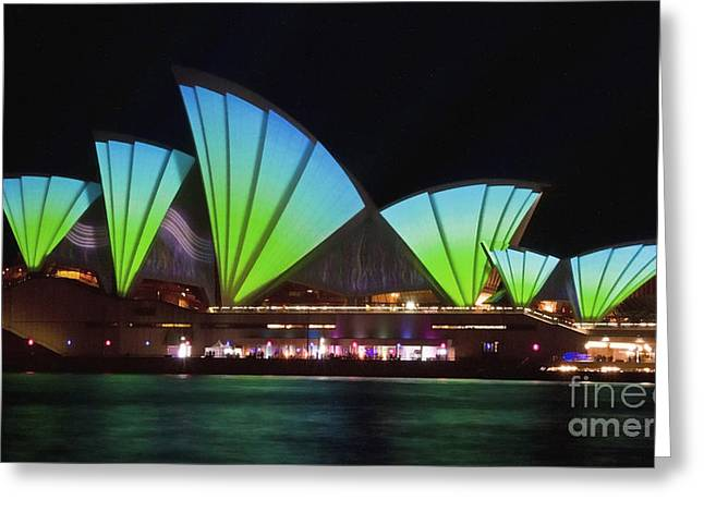 Splice Sails - Sydney Vivid Festival - Sydney Opera House Greeting Card