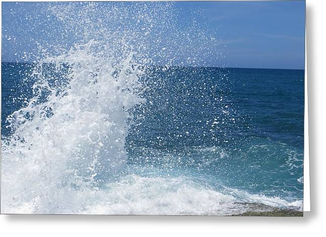 Greeting Card featuring the photograph Splash by Jean Marie Maggi