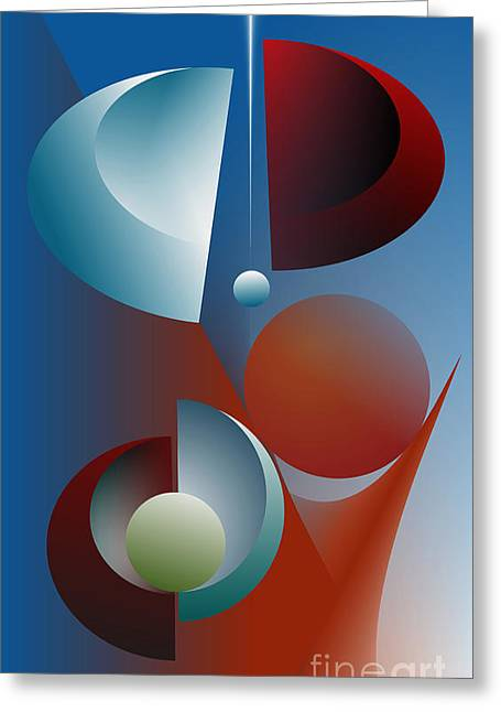 Split Cycle Greeting Card by Leo Symon