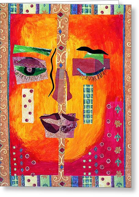 Split Personality Greeting Card by Diane Fine