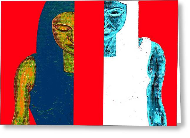Split Personality Greeting Card by Patrick J Murphy