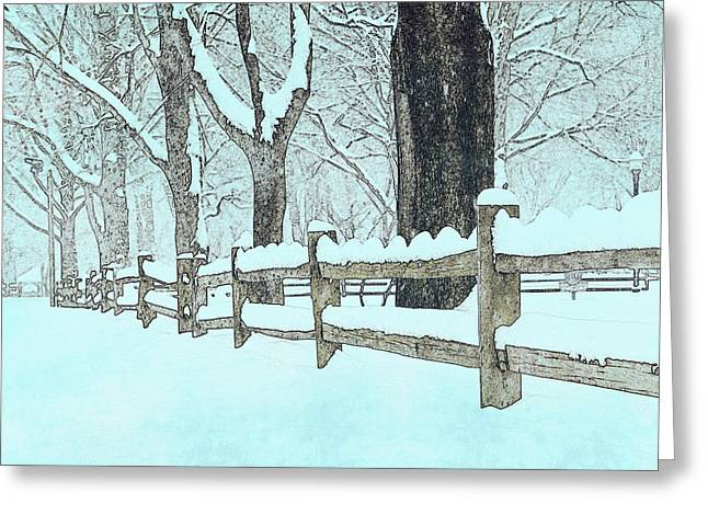 Split Rail Blues Greeting Card by John Stephens