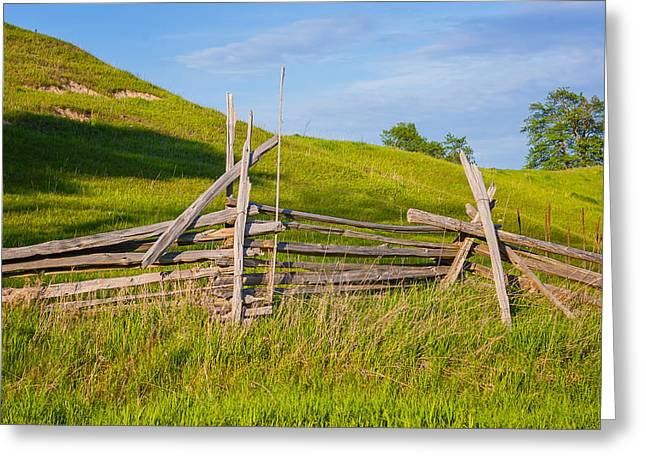 Split Rail Fence 2 Greeting Card by Steve Harrington