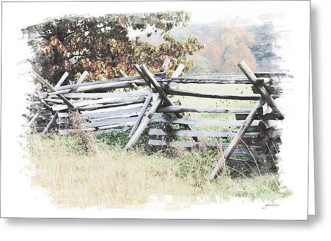 Split-rail Fence Gettysburg Greeting Card