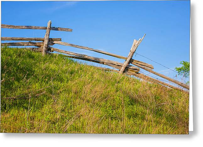 Split Rail Fence Greeting Card by Steve Harrington