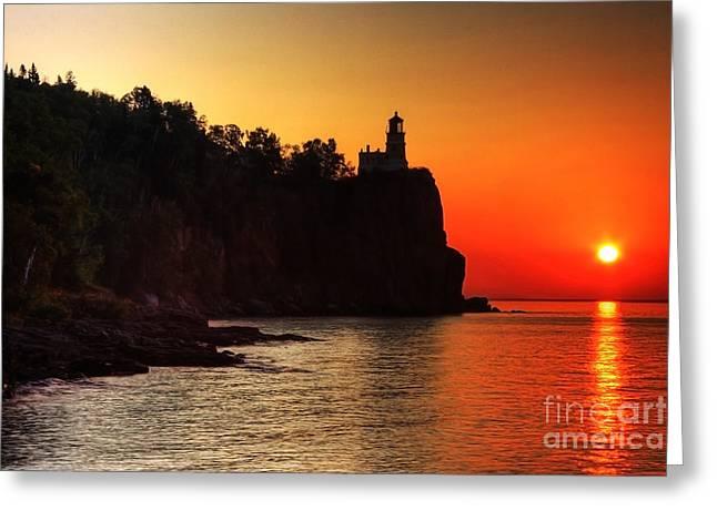 Split Rock Lighthouse - Sunrise Greeting Card