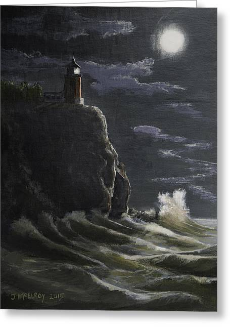 Split Rock Lighthouse Greeting Card by Jerry McElroy