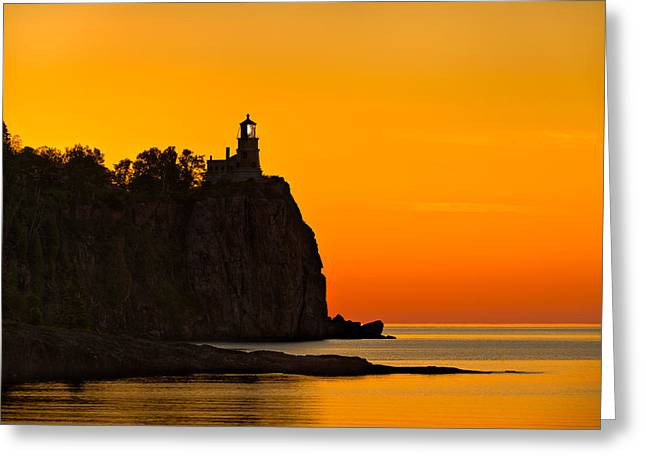 Split Rock Lighthouse Greeting Card by Steve Gadomski