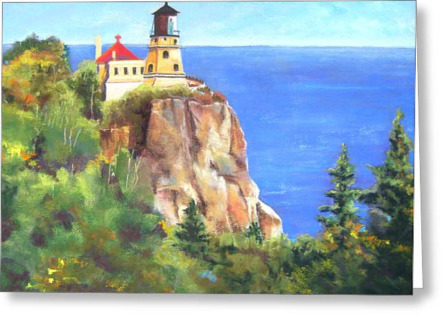 Split Rock Lighthouse Greeting Card by Vicki Brevell