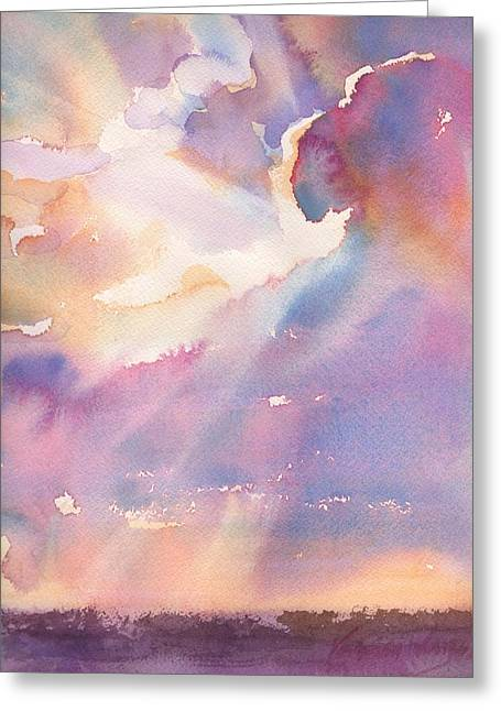 Splits The Silver Lining Greeting Card by Yevgenia Watts