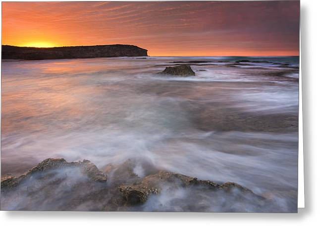 Splitting The Tides Greeting Card by Mike  Dawson