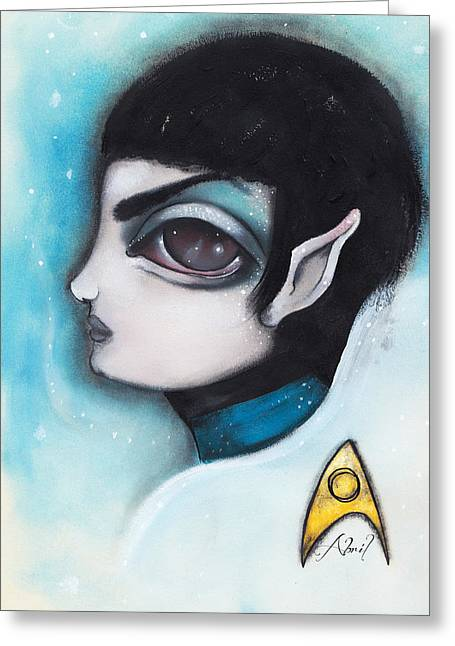 Spock Greeting Card by  Abril Andrade Griffith