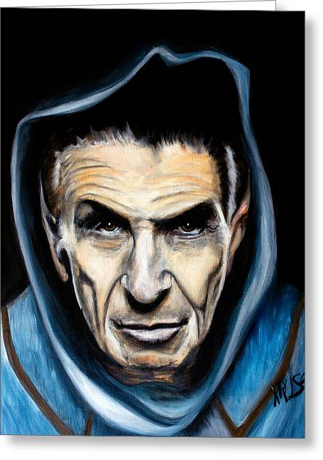 Spock Greeting Card by James Kruse