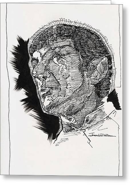 Spock Greeting Card by Jerrett Dornbusch