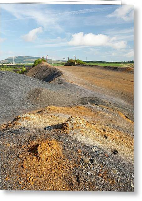 Spoil Left By Open Cast Coal Mining Greeting Card by Ashley Cooper