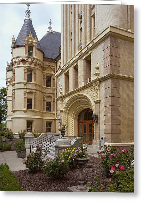 Spokane County Courthouse Greeting Card by Daniel Hagerman