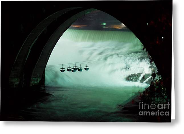 Spokane Falls Greeting Card by Sharon Elliott