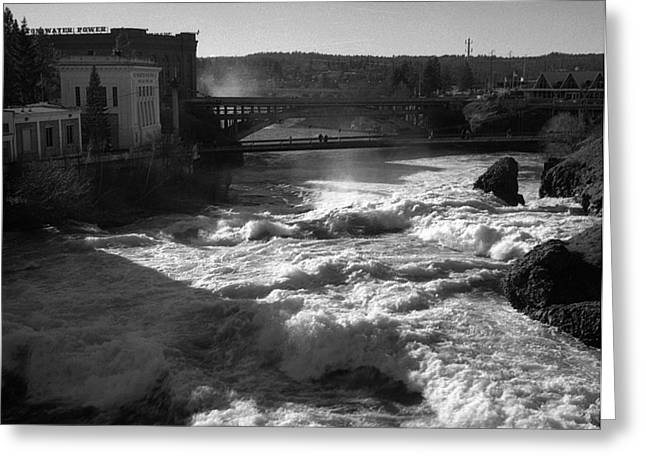 Spokane Falls Spring Flow Greeting Card