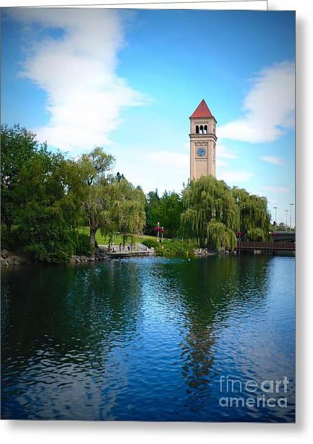 Spokane Riverfront Park Greeting Card by Carol Groenen