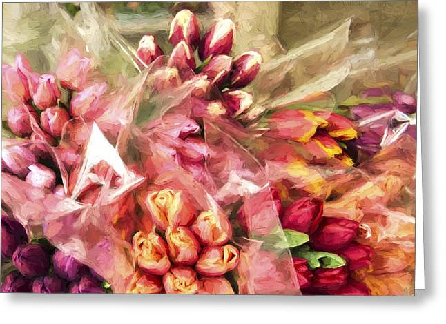 Spoken Without Sound - Flower Art Greeting Card