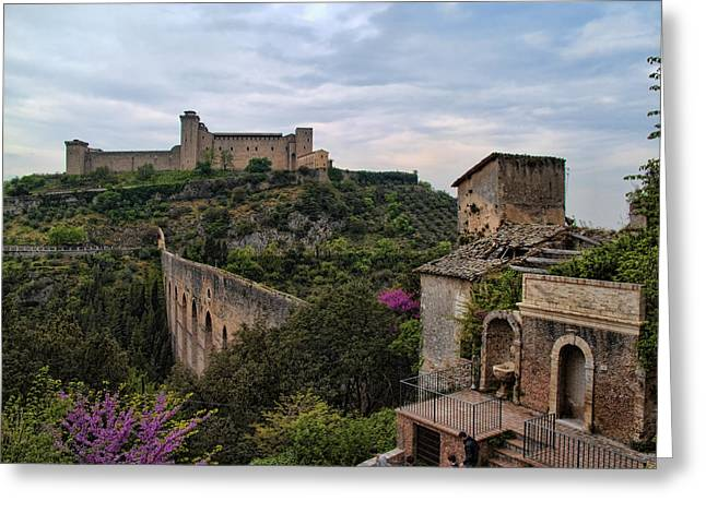 Spoleto And The Appian Way Greeting Card by Hugh Smith