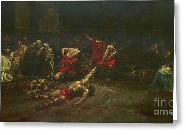Spoliarium  Greeting Card by Juan Luna
