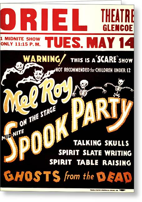 Spook Party Greeting Card by Jennifer Rondinelli Reilly - Fine Art Photography