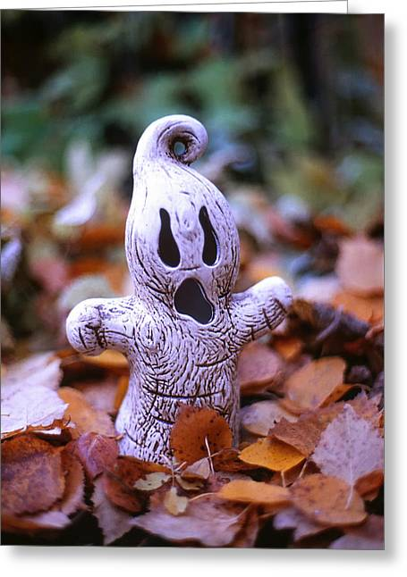 Spooky Autumn Greeting Card by Aaron Aldrich