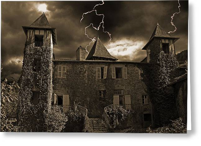 Spooky Chateau Greeting Card
