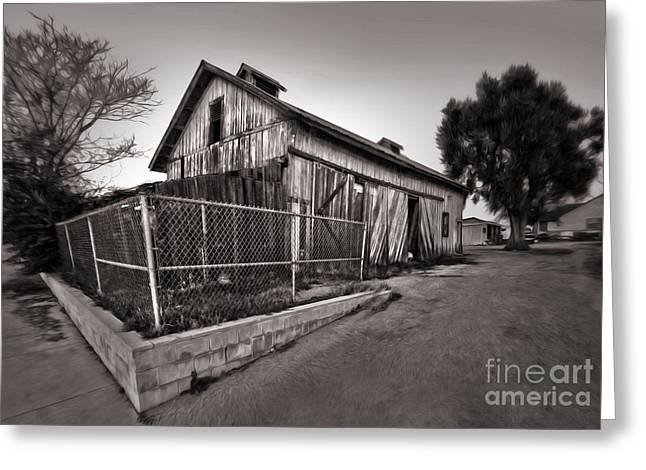 Spooky Chino Barn - 01 Greeting Card by Gregory Dyer