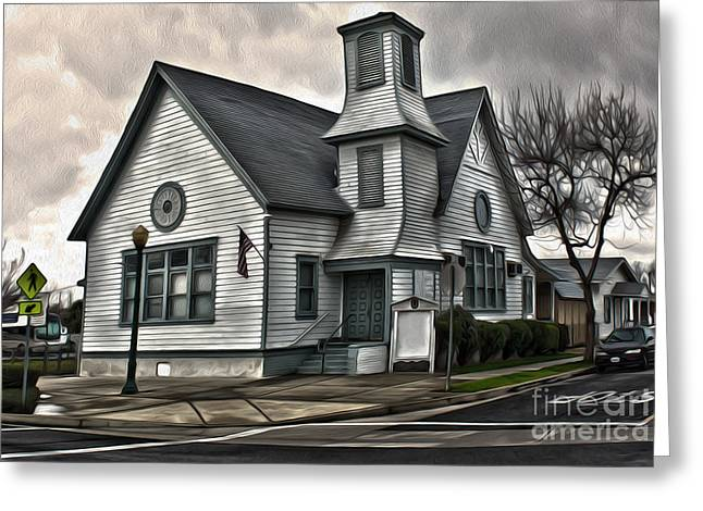 Spooky Church Greeting Card by Gregory Dyer