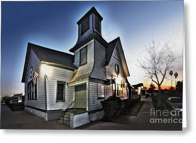 Spooky Church In Chino - 03 Greeting Card by Gregory Dyer