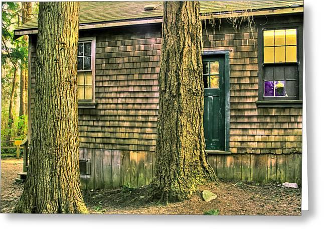 Spooky Old Cabin Greeting Card by Eti Reid